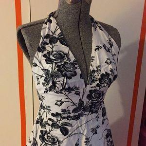 NWOT Eva Franco floral Halter Dress